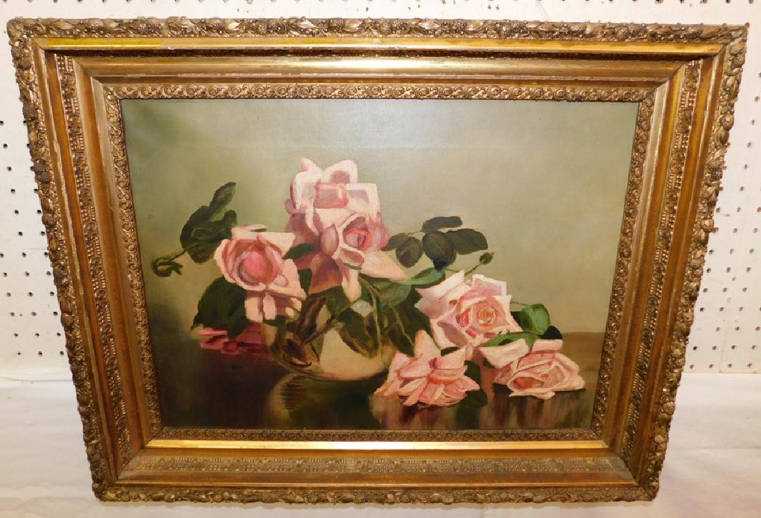 OOC signed still life with roses.