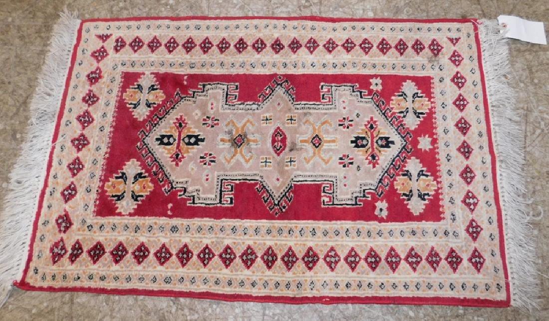 Handmade throw rug.