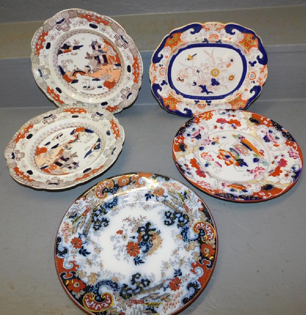 4 Masons Ironstone plates with platter.