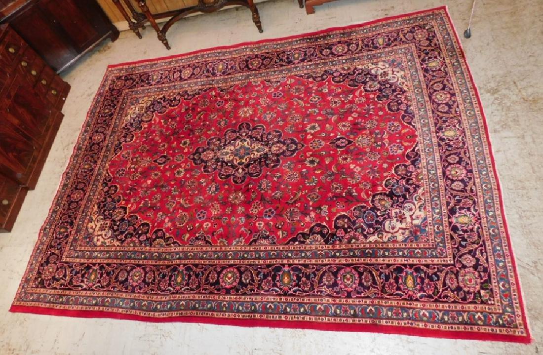 "9'6"" x 7'7"" handmade Kashan rug"