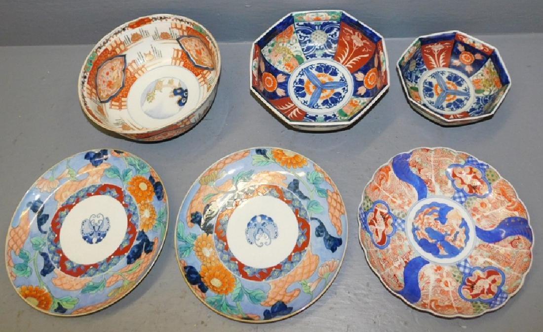 6 pcs. Early Imari porcelain. .