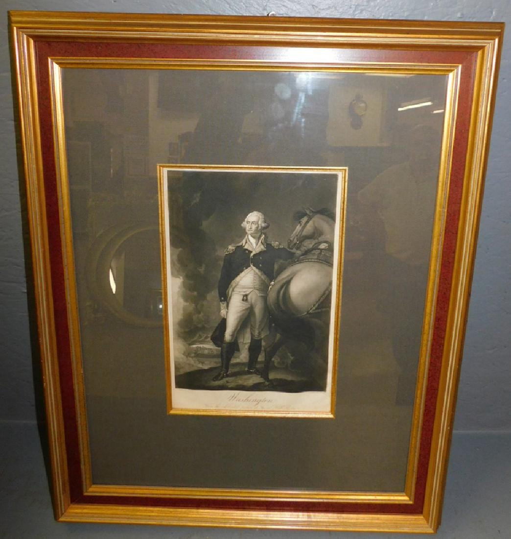 Engraving of General George Washington.