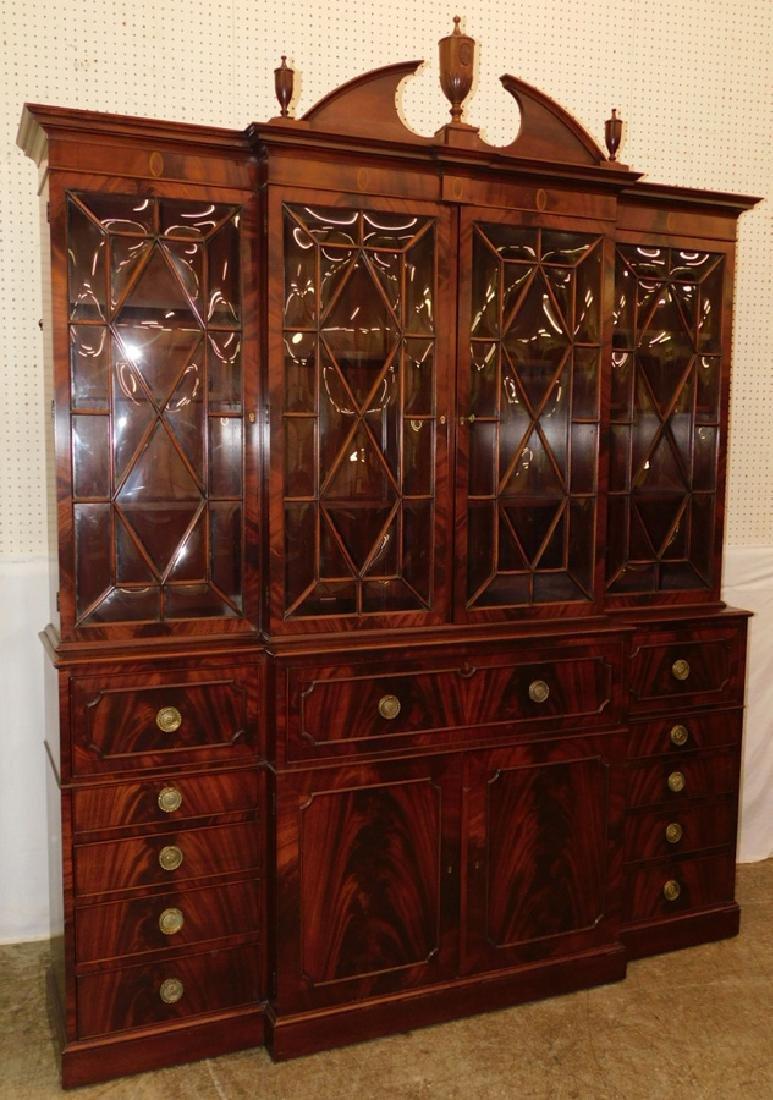 Kentucky Furniture inlaid mahogany breakfront.