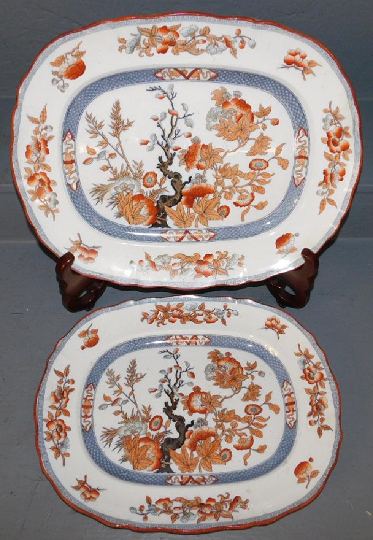 2 Large Indian Tree Ironstone platters.
