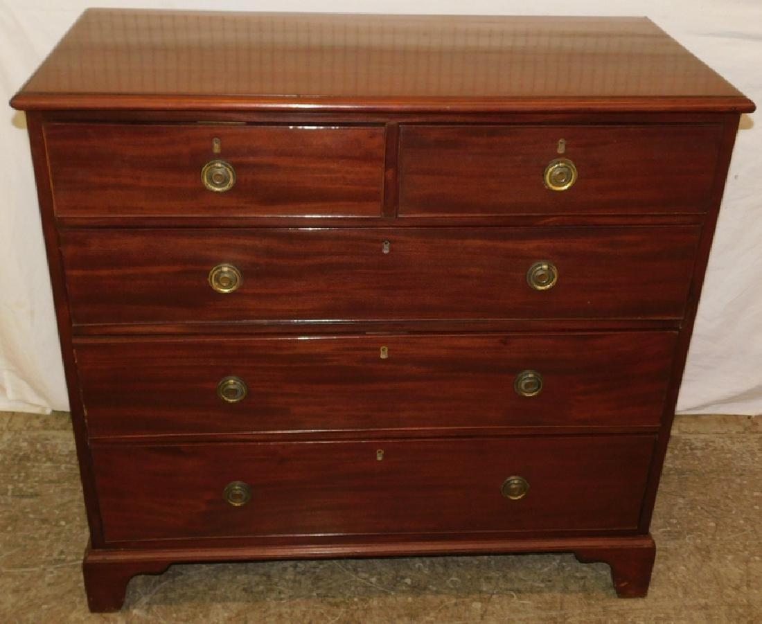 19th century Mahogany 2/3 English chest.