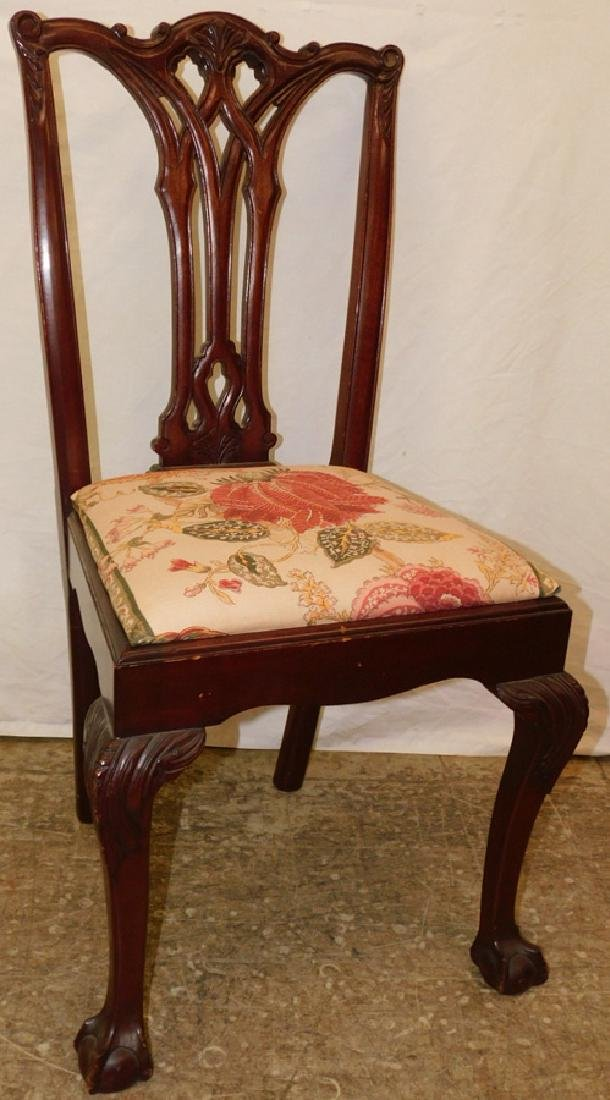 Chippendale ball and claw foot side chair.