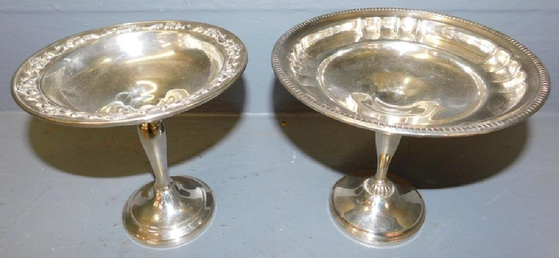 2 sterling weighted compotes.