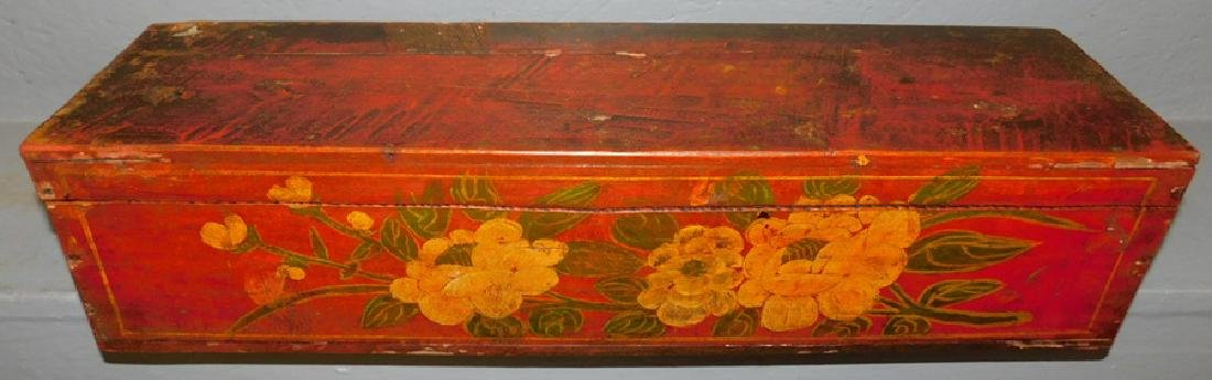 Chinese painted scroll box.