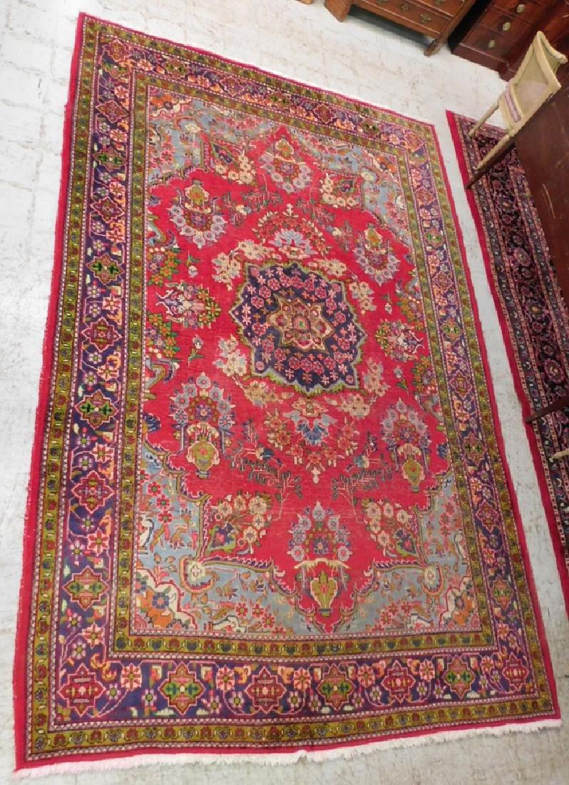 "7'2"" x 11'7"" handmade Persian rug"