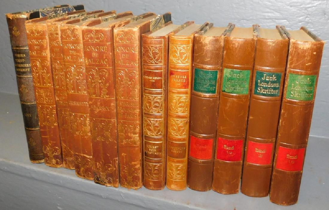 12 quarter leather bound books