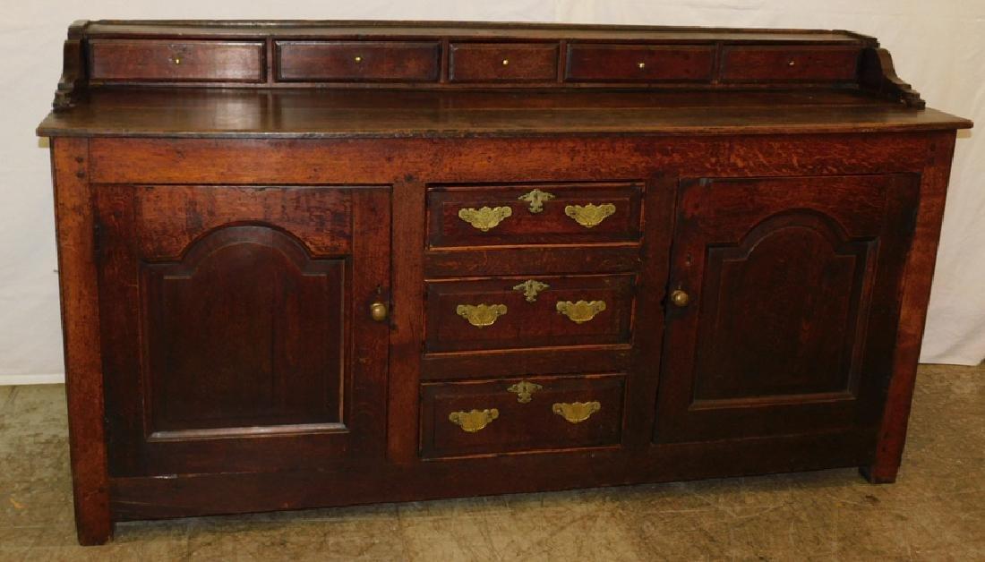 18th C English oak dresser base.