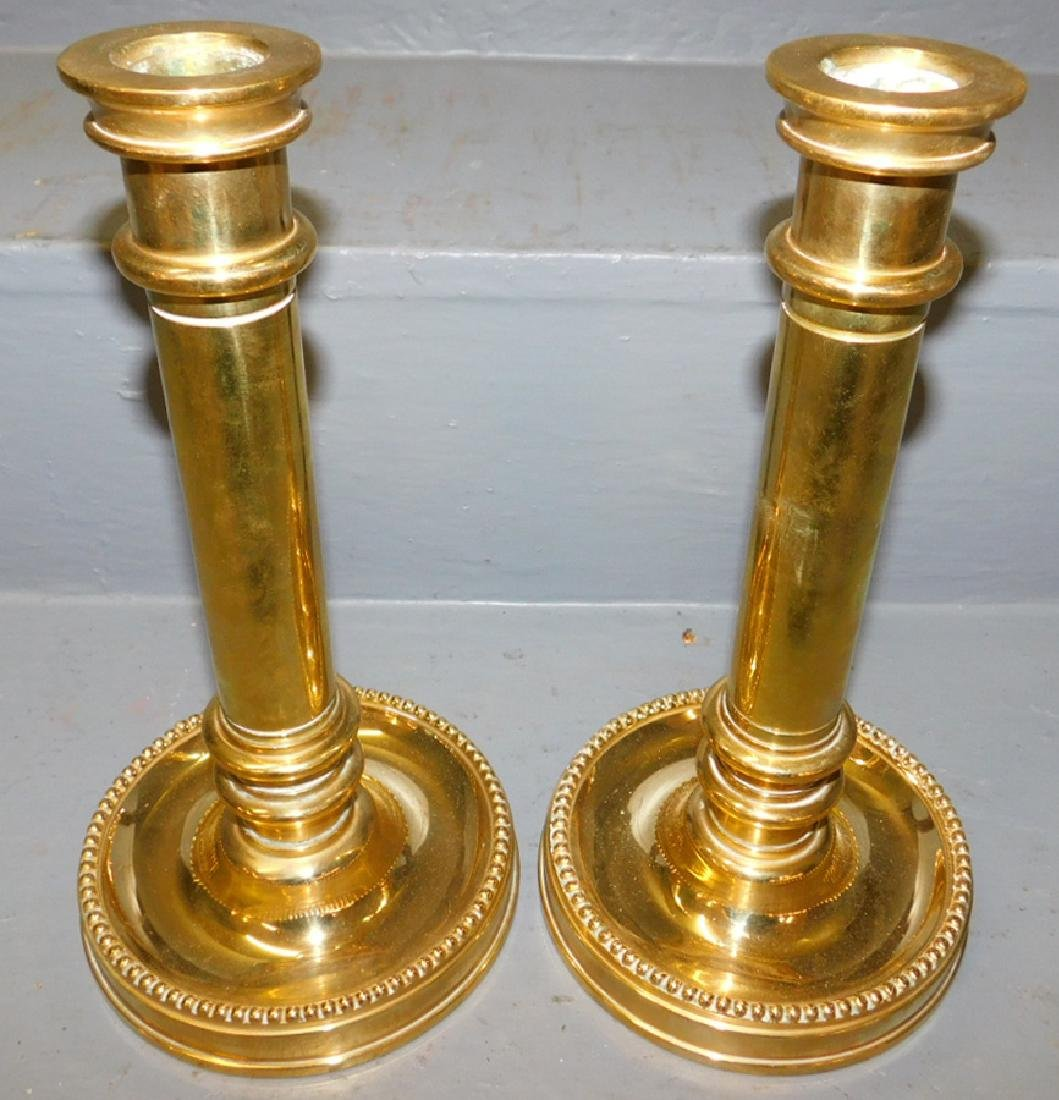 Quality pair of heavy cast brass ships sticks.