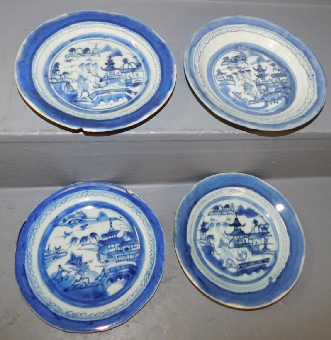 4 19th C Canton plates.