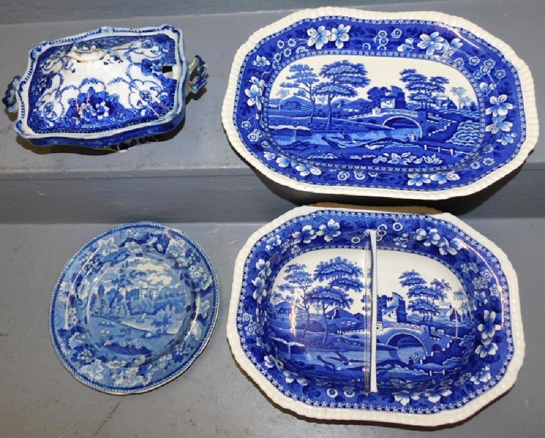 Copeland bowl, tray, odd dish and historical plate