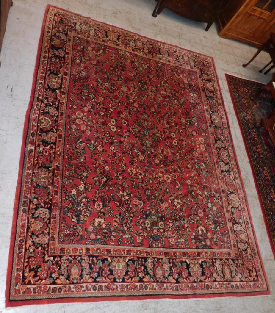 "8'10"" x 11'7"" handmade Sarouk rug"