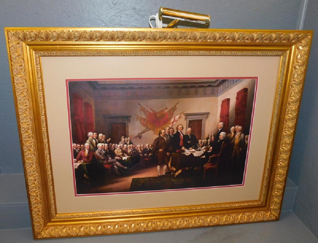 Gilt framed Independence Hall Print.