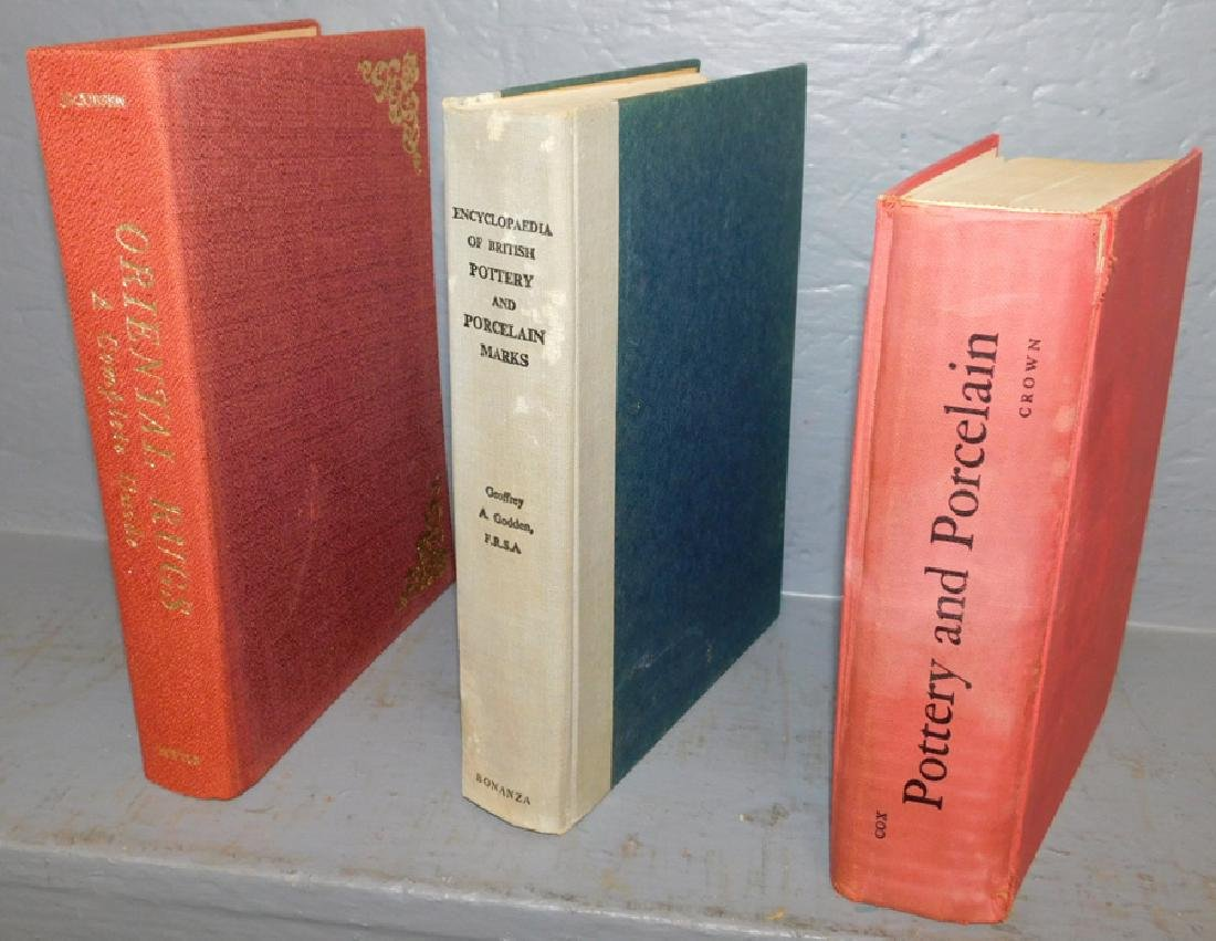 3 Antique reference books.