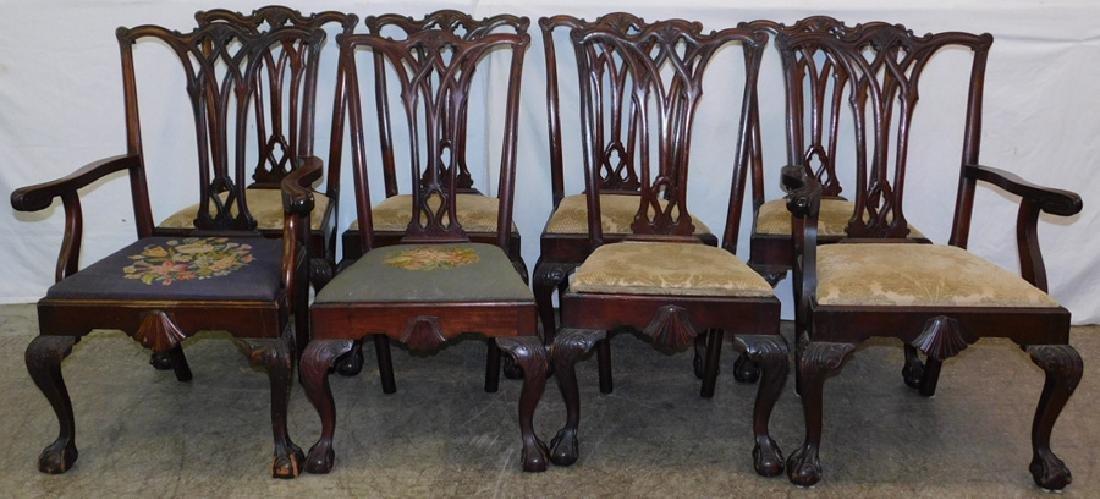 Set  8 Robert Morris style Philadelphia chairs.