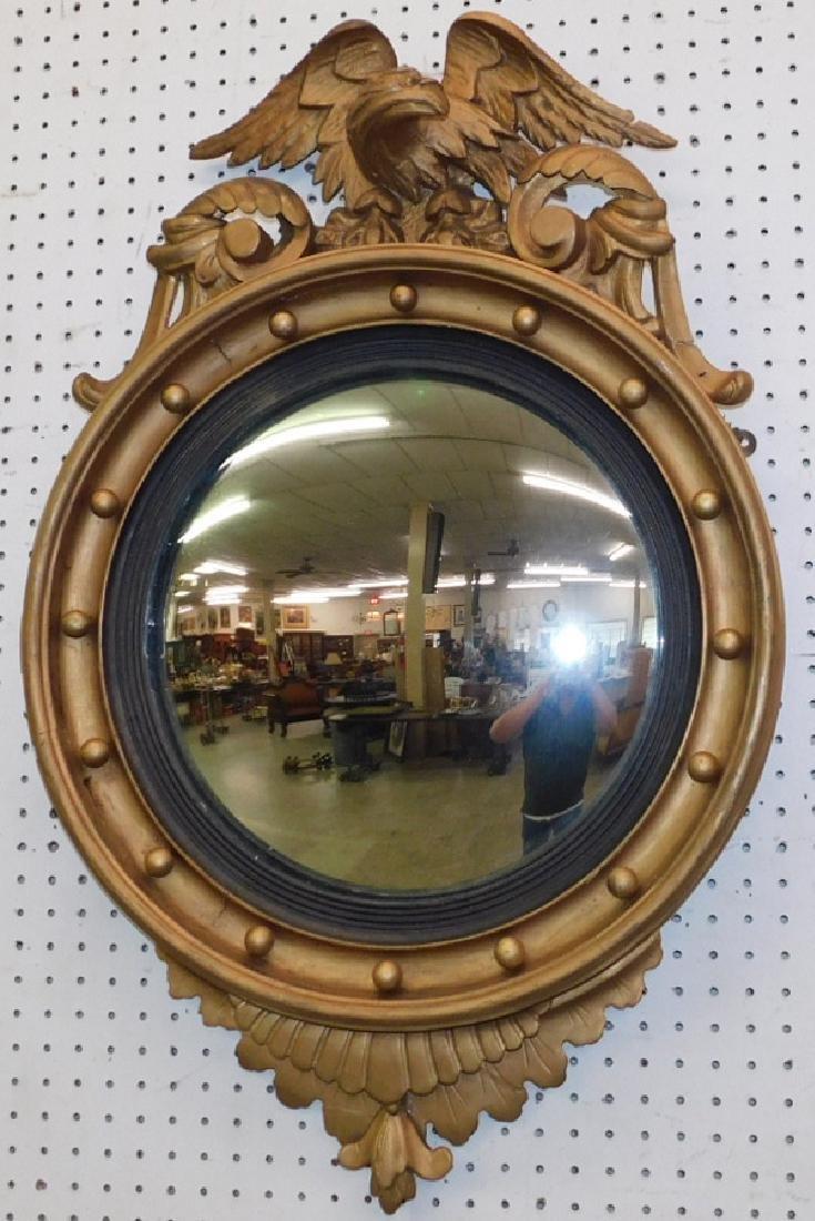 19th C Full eagle spread garniture mirror.
