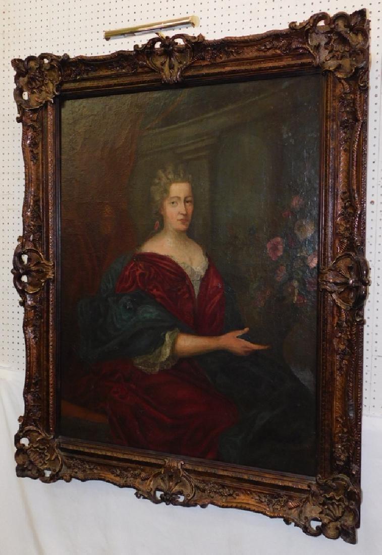 18th C portrait OOC from the Farmville estate.