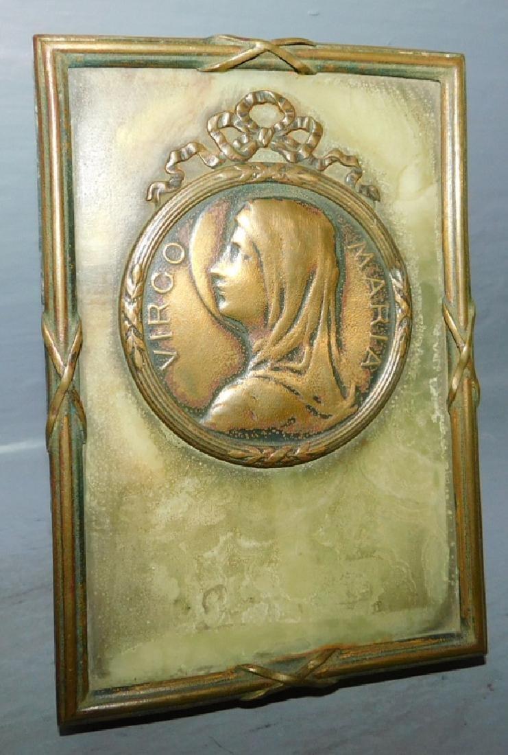 Bronze icon of Madonna.