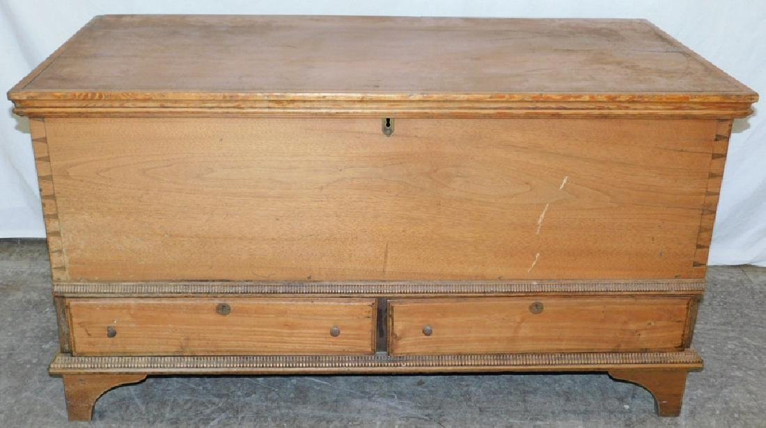18th C Pennsylvania 2 drawer blanket chest