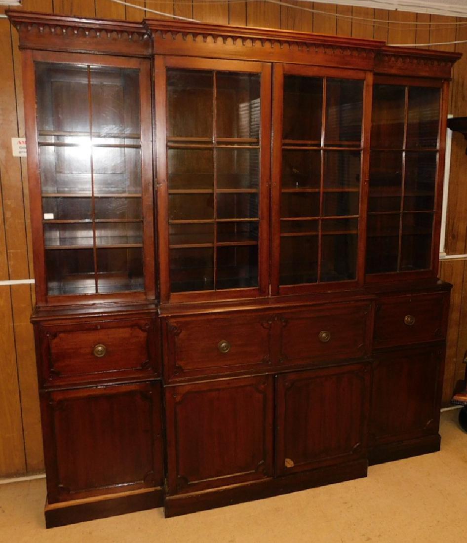 Regency butlers desk breakfront w/b.e.m. interior
