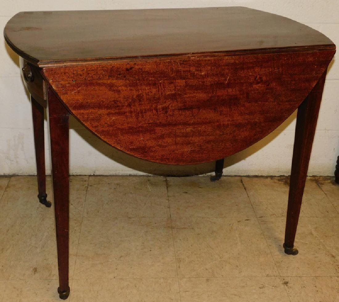19th C mahogany Hepplewhite Pembroke table.