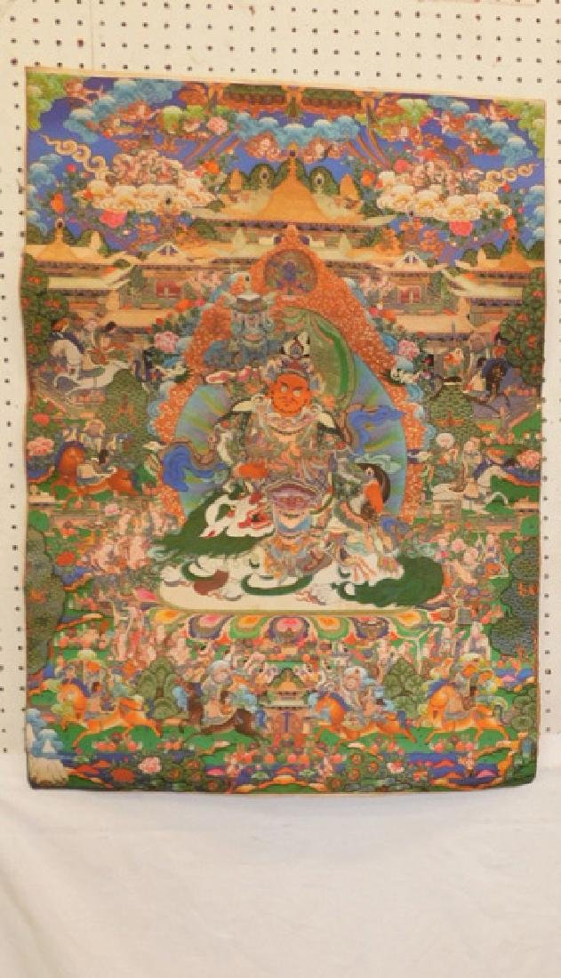 Indian deity scroll.
