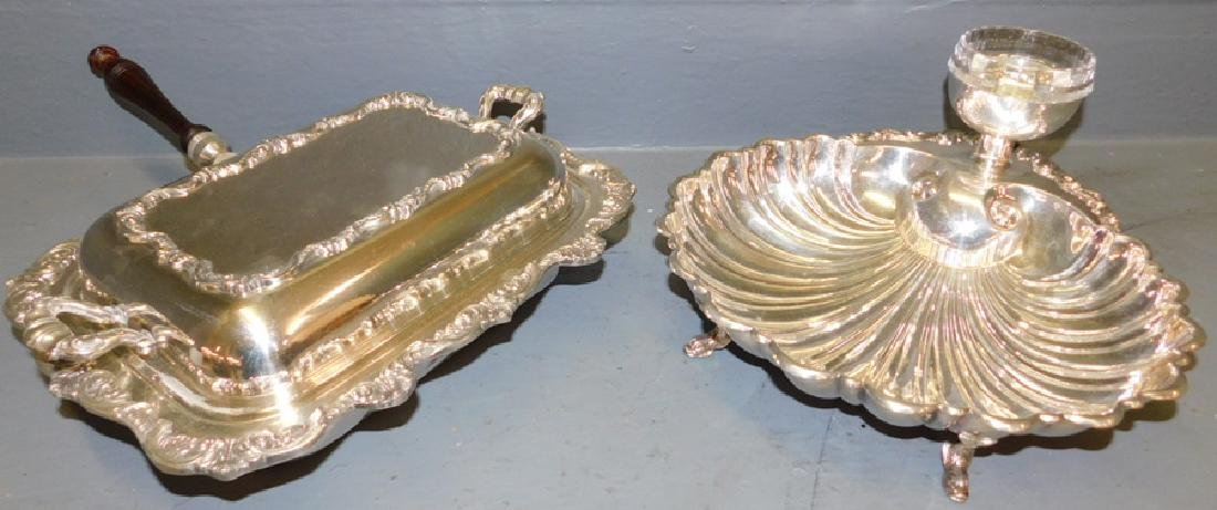 Covered s.p. vegetable dish & shell entree server.