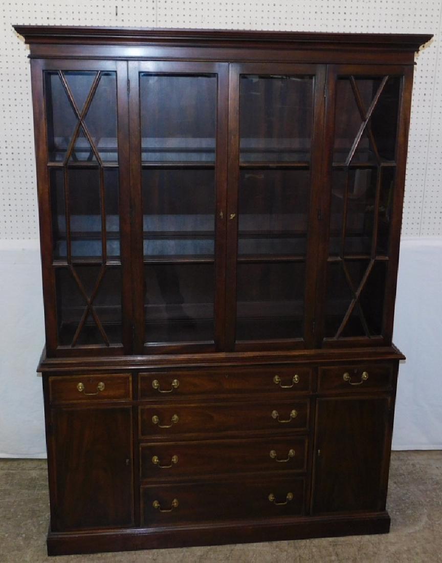 Henckel Harris mahogany china cabinet.