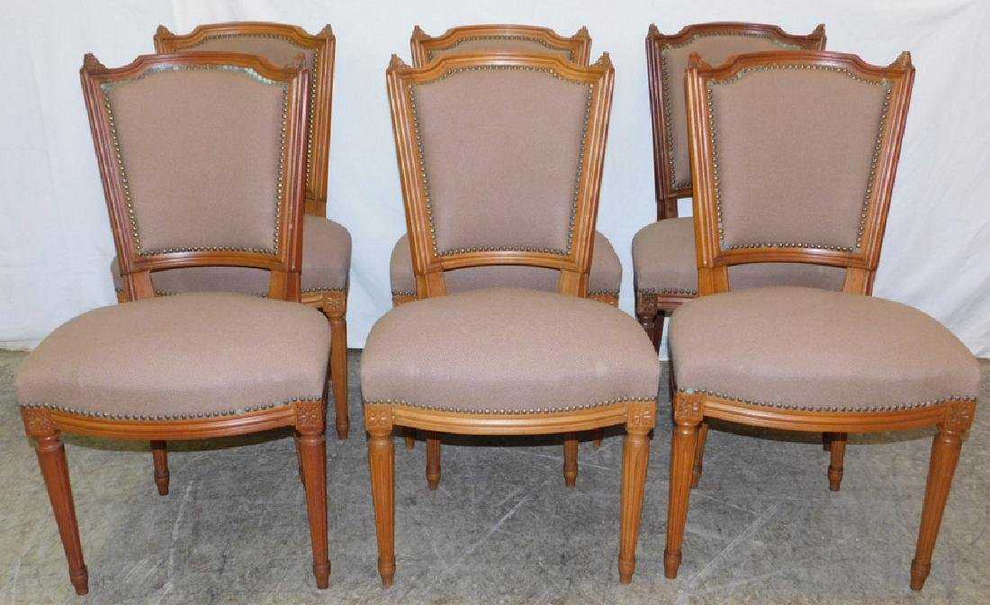 Set of 6 Neoclassical side chairs.