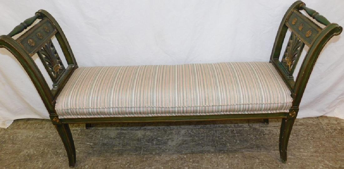 Adams style painted window bench.