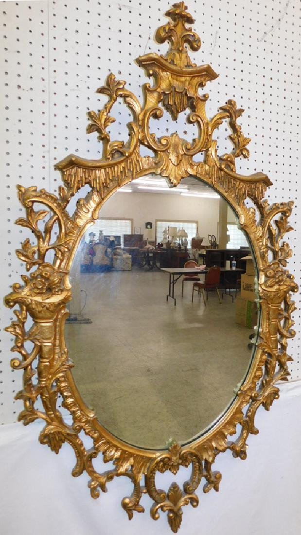 French style gold decorated mirror.