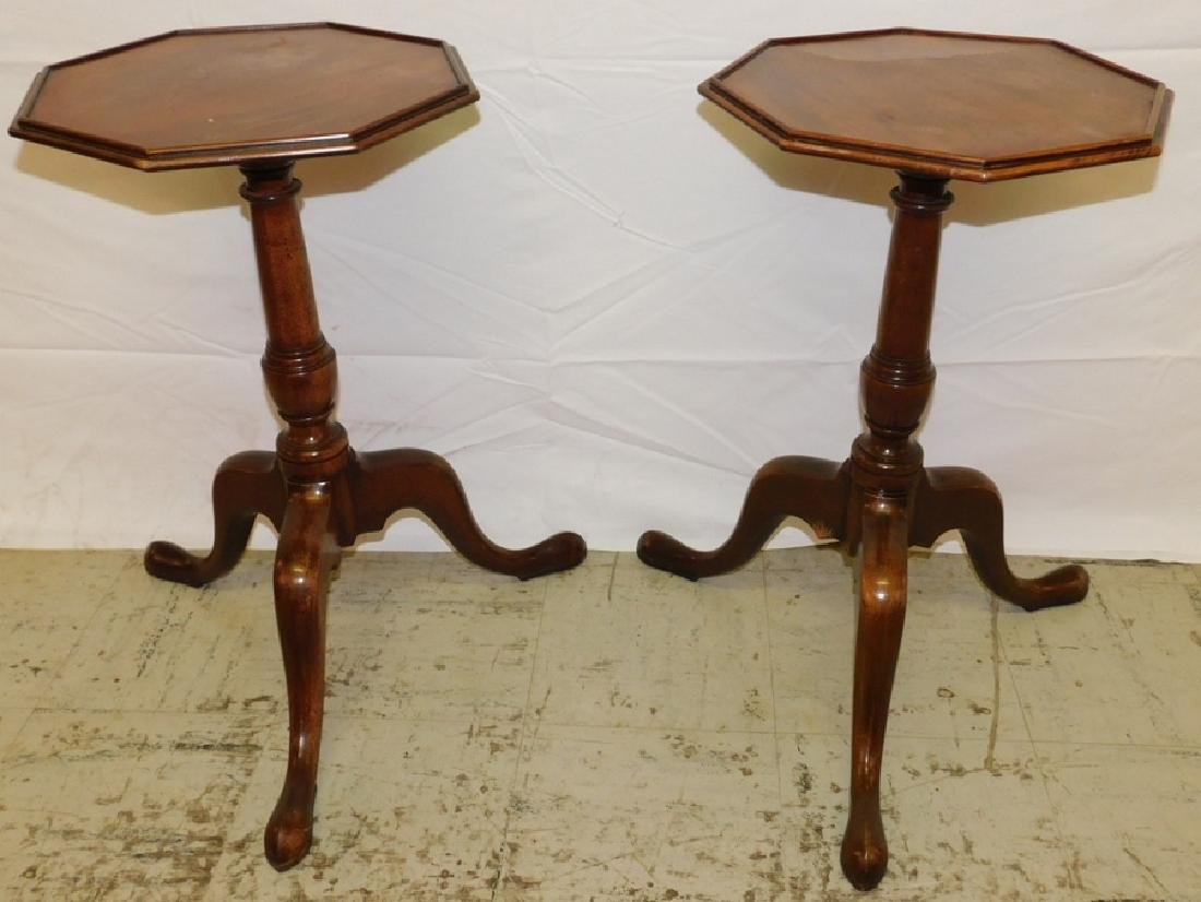 Pair of antique whiskey stands.