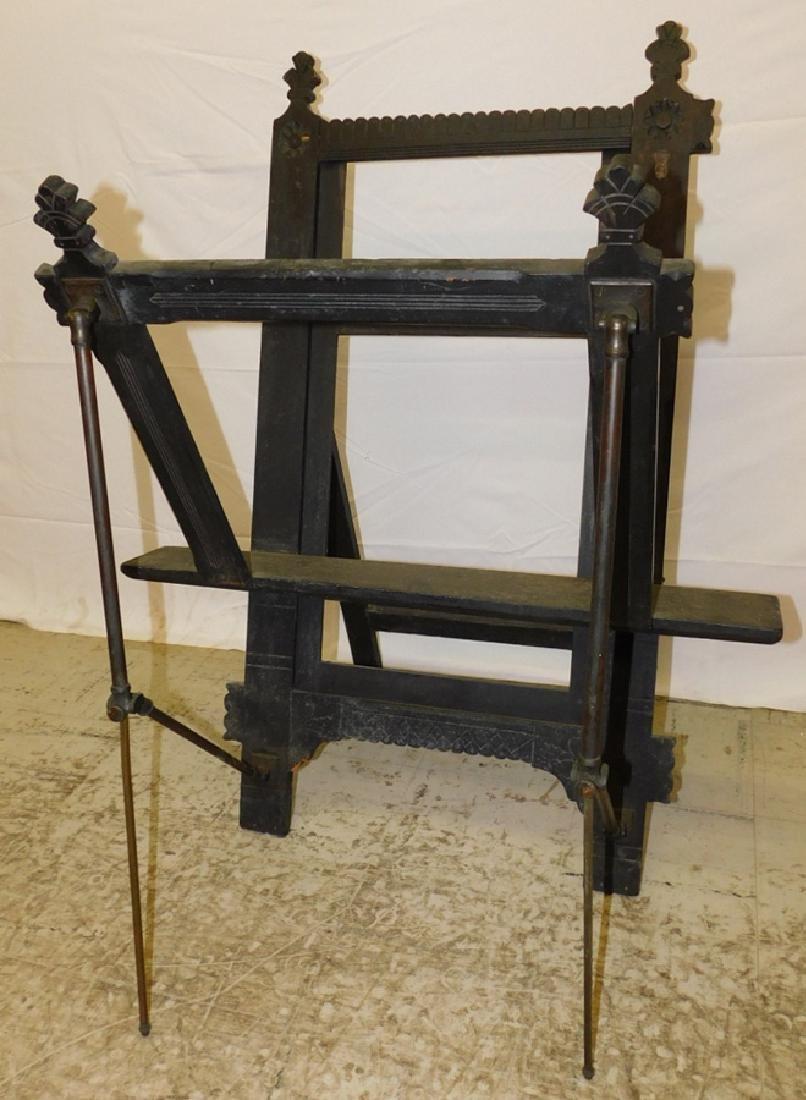 Antique ebonized portfolio rack.