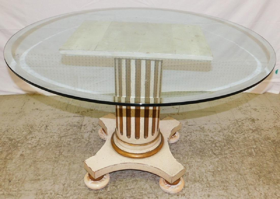 Neoclassical style glass top table
