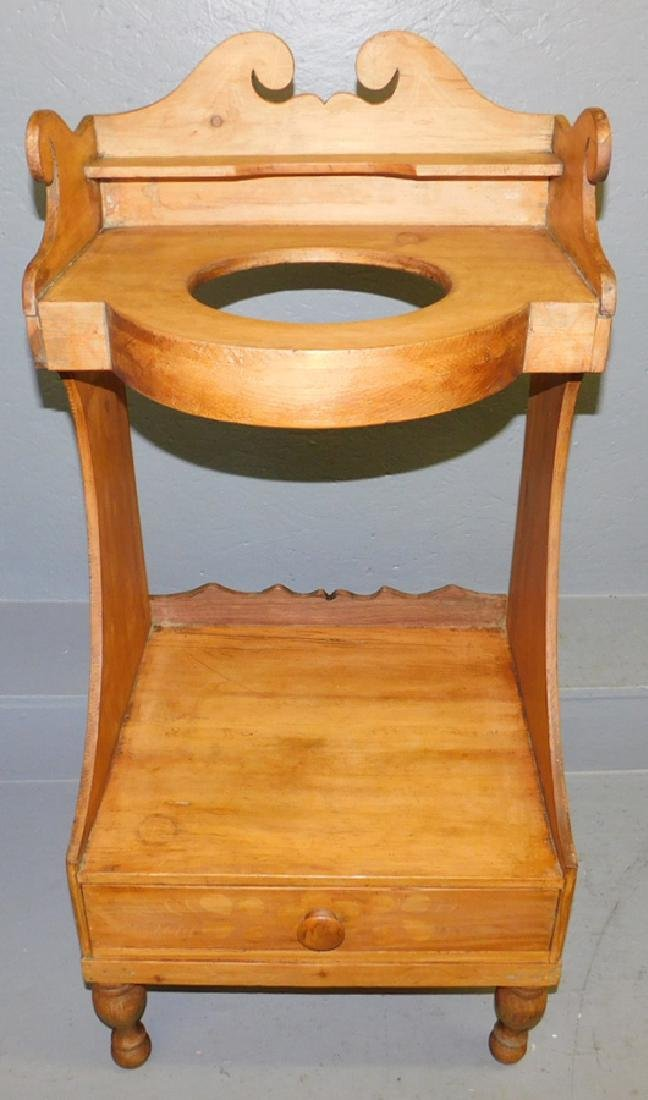 19th C pine wash stand.