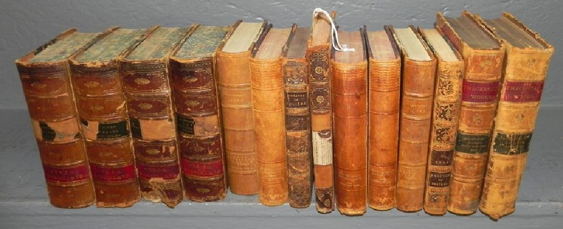 14 quarter leather bound books
