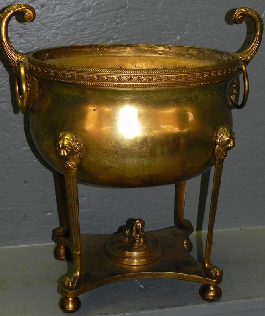 French brass Egyptian Revival urn.