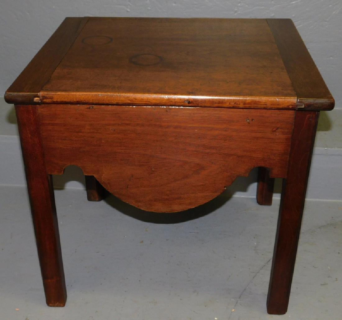18th C mahogany commode.