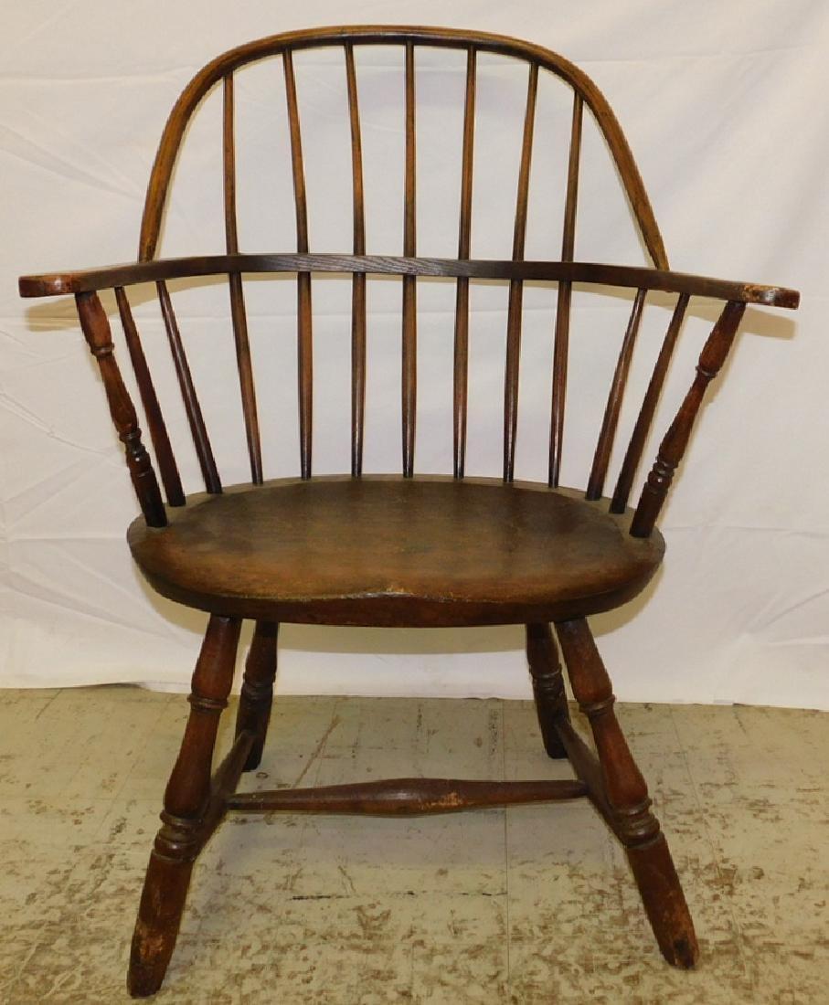 18th C American Windsor arm chair.
