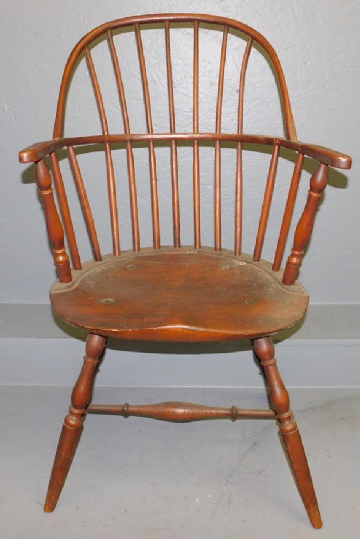 New England Windsor arm chair.