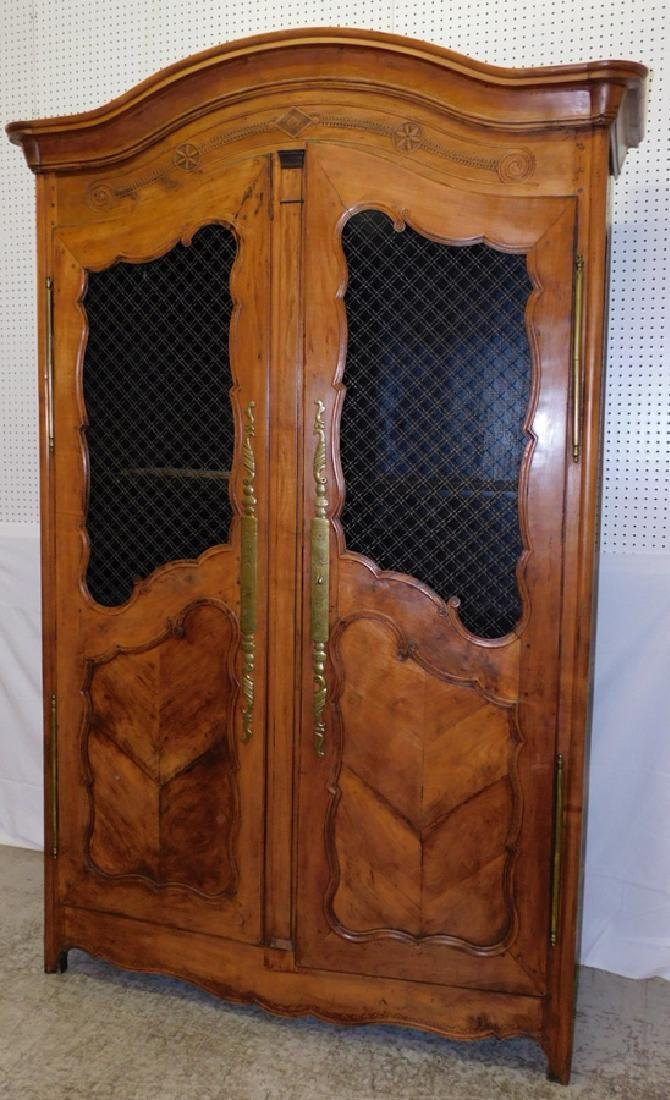 18th C French cherry armoire.