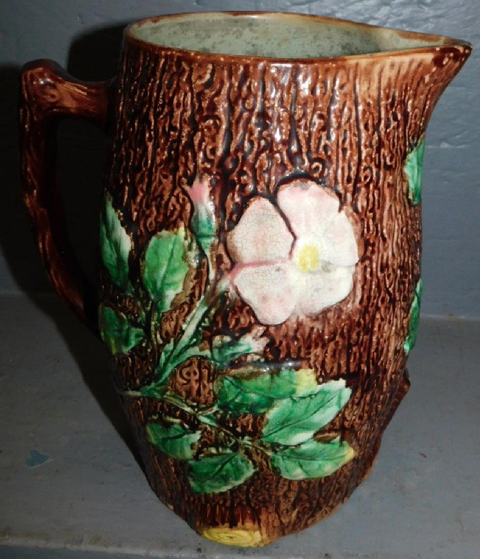 Majolica apple blossom pitcher.