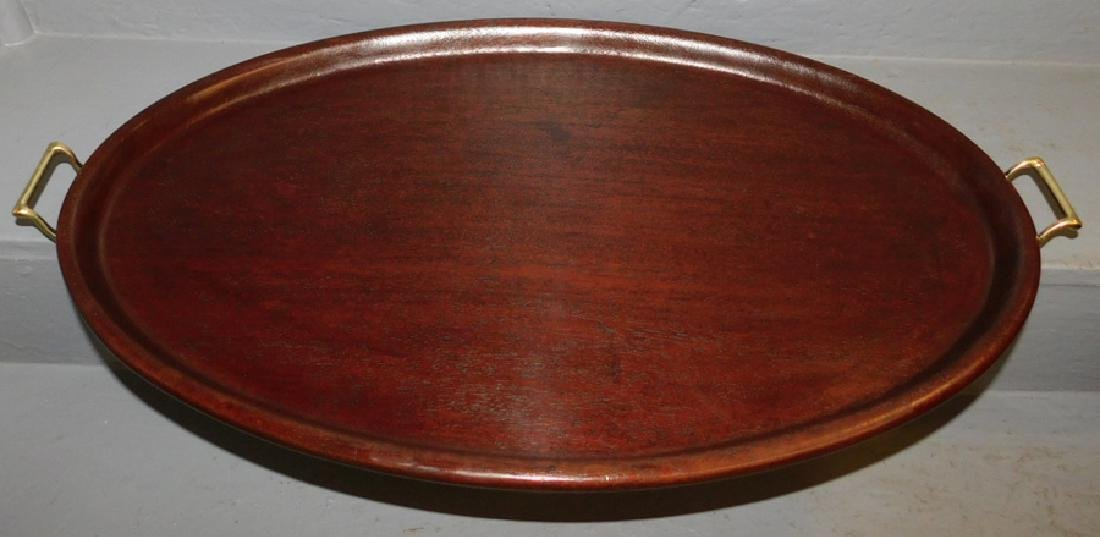 Mahogany gallery tray.
