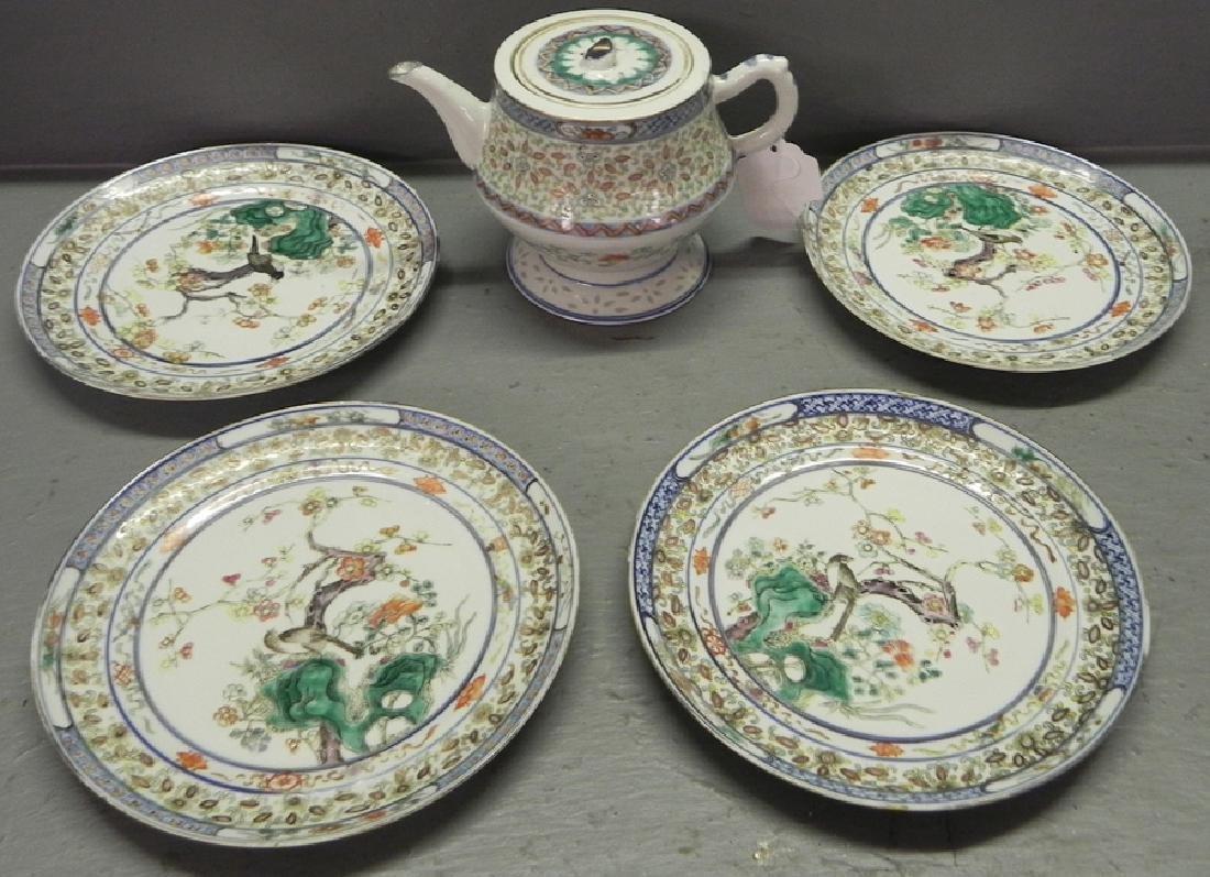 Late 18th C lot export porcelain