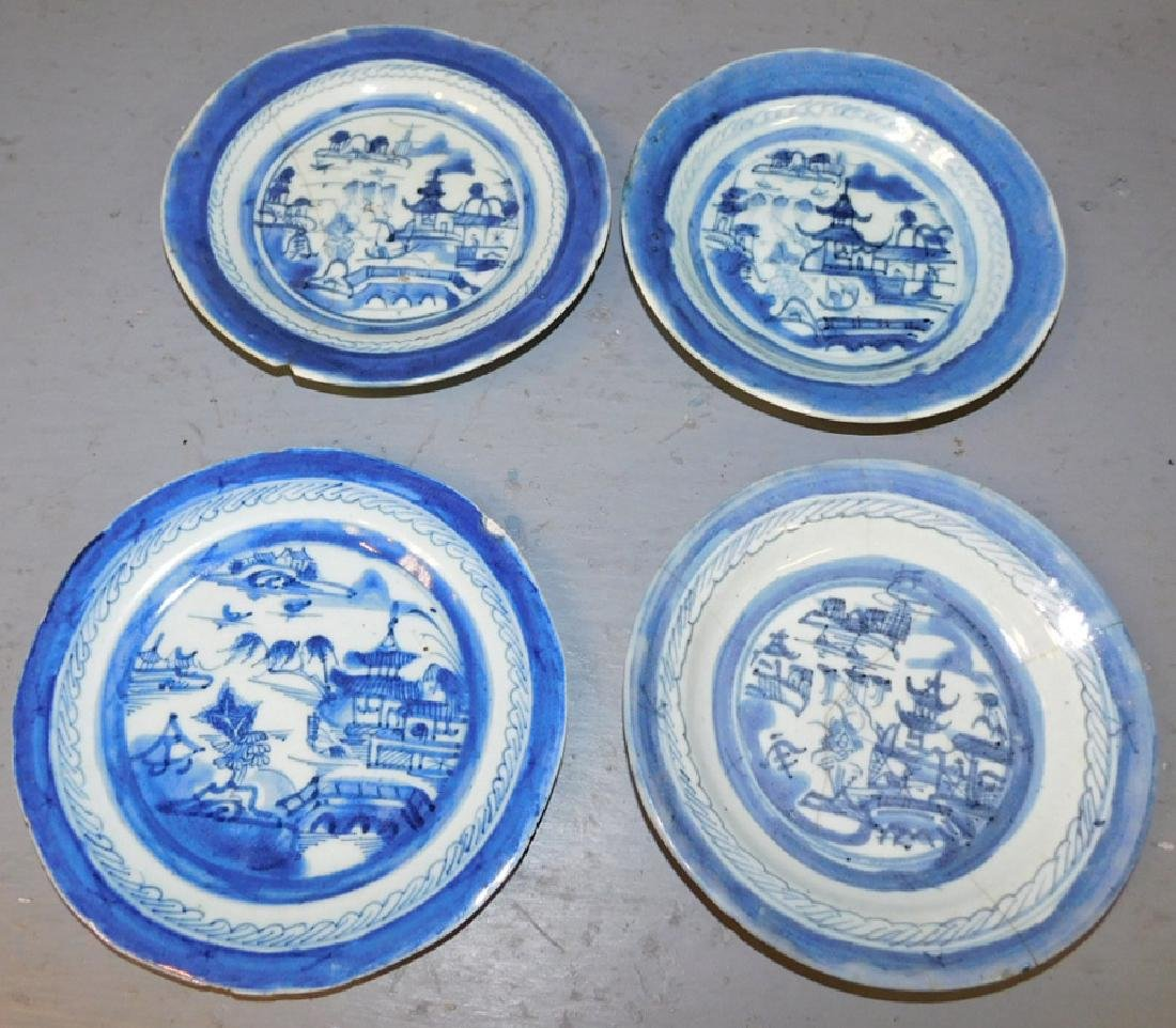 4 18th C Canton plates.