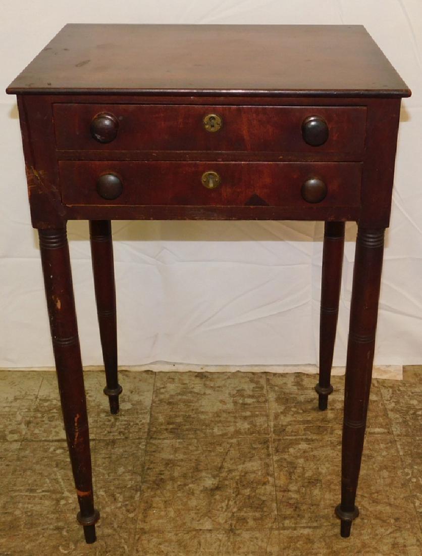 2 drawer mahogany work table.