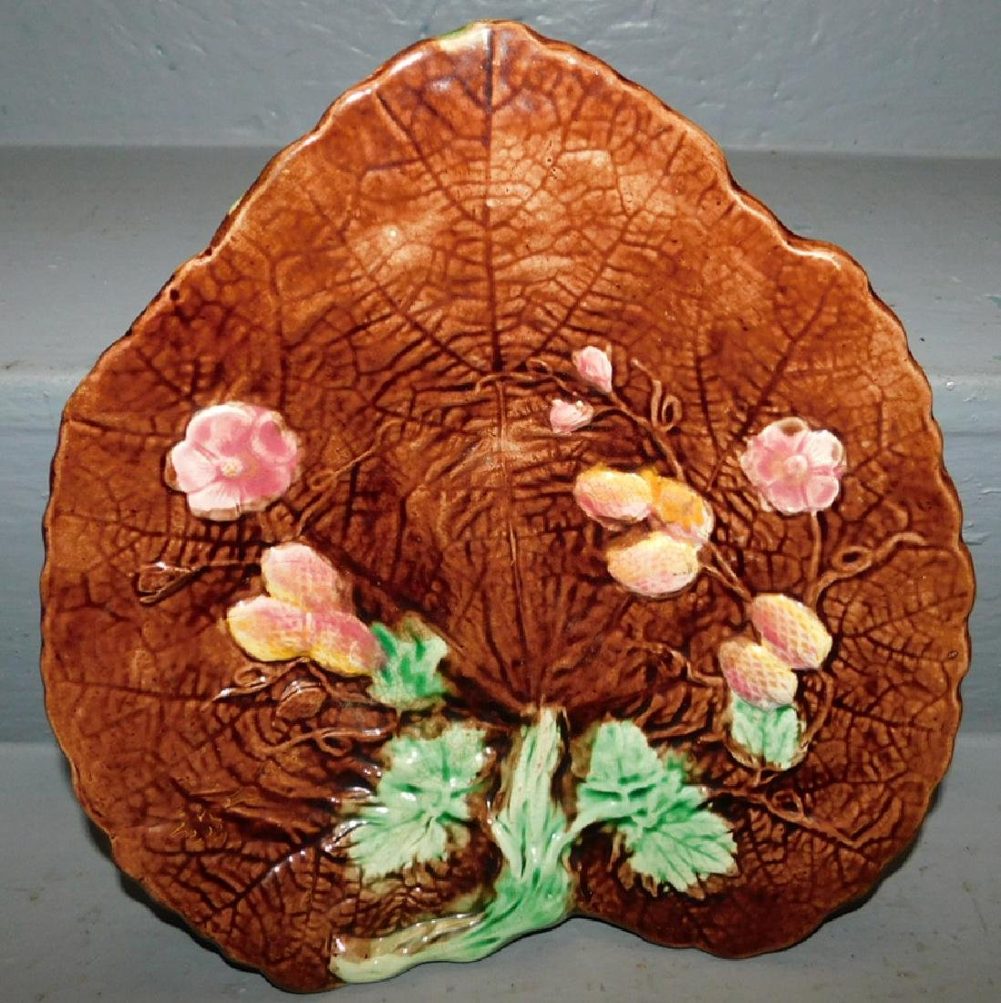 Majolica strawberry platter.